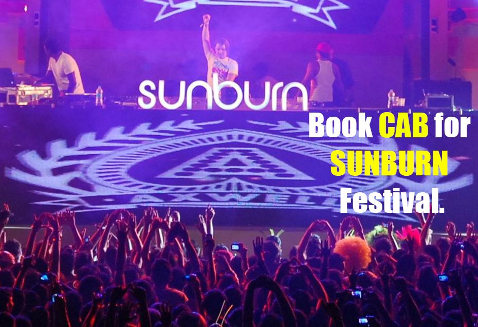 sunburn pune book a cab